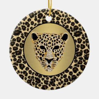 Ornamento De Cerâmica Impressão 2 do leopardo