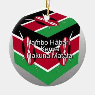 Ornamento De Cerâmica Jambo Habari! Kenya Hakuna Matata
