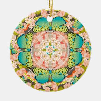 Ornamento De Cerâmica Jardim da borboleta