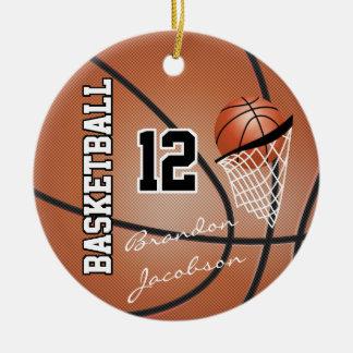 Ornamento De Cerâmica Jogador de basquetebol da estrela da assinatura