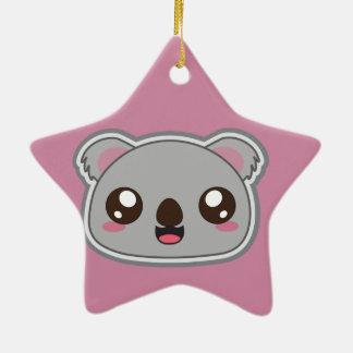 Ornamento De Cerâmica Kawaii, o divertimento e o koala engraçado star o