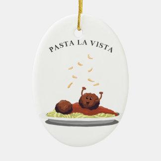 "Ornamento De Cerâmica La Vista massa do Meatball feliz da ""! """