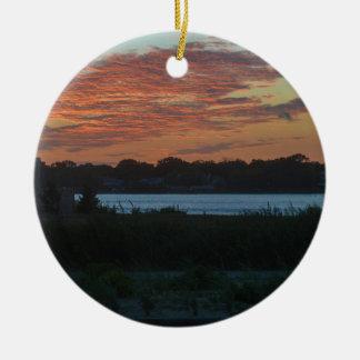 Ornamento De Cerâmica Lago