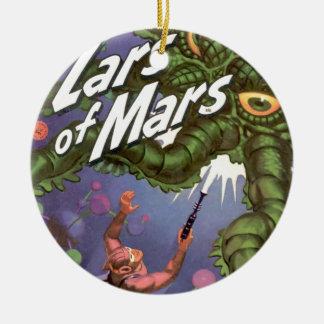 Ornamento De Cerâmica Lars de Marte e do monstro Inseto-eyed do
