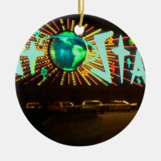 Ornamento De Cerâmica Las Vegas cerca do sinal 1959 de néon do hotel de