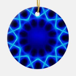 Ornamento De Cerâmica laser azul #2