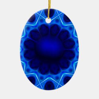 Ornamento De Cerâmica laser azul #3