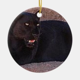 Ornamento De Cerâmica Leopardo preto