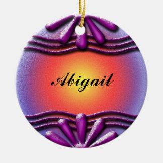 Ornamento De Cerâmica Lilac da placa de identificação