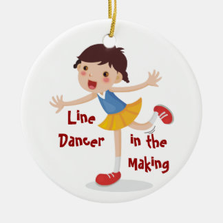Ornamento De Cerâmica Linha dançarino no fazer! - Menina
