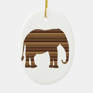 Ornamento De Cerâmica Listra selvagem animal Brown do ouro do animal de