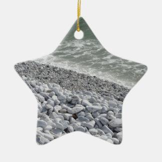 Ornamento De Cerâmica Litoral da praia de Pisa dos di do porto em um dia