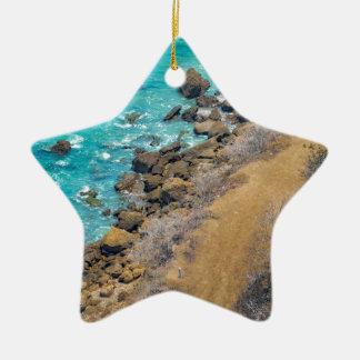 Ornamento De Cerâmica Litoral Puerto López E do Oceano Pacífico da vista