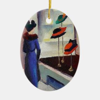 Ornamento De Cerâmica Loja de chapéu - August Macke