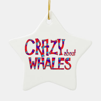 Ornamento De Cerâmica Louco sobre baleias