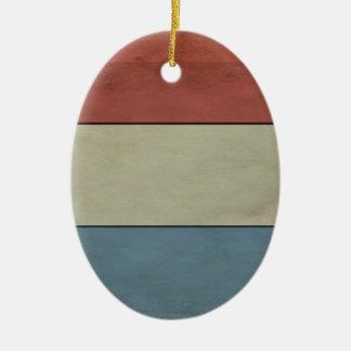 Ornamento De Cerâmica Luxembourg embandeira (grunged)