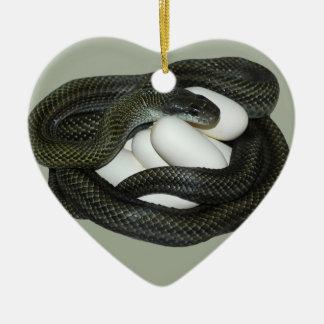 Ornamento De Cerâmica Mãe japonesa do cobra de rato, a bonita e do