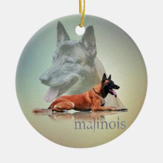 Ornamento De Cerâmica Malinois - pastor belga - Mechelaar - Maligator