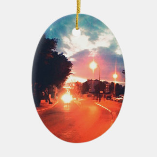 Ornamento De Cerâmica Manhã alaranjada