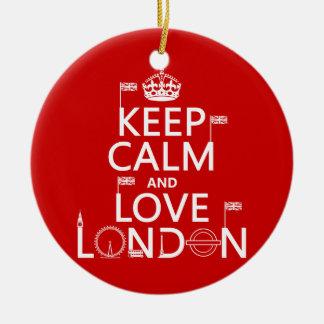 Ornamento De Cerâmica Mantenha a calma e ame Londres