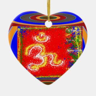 Ornamento De Cerâmica MANTRA Shakti: Paz do poder da dedicação da paixão