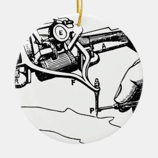 Ornamento De Cerâmica Mão que repara o dispositivo velho
