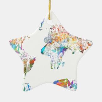 Ornamento De Cerâmica mapa do mundo 1