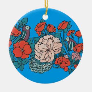 Ornamento De Cerâmica Mar asiático de flor