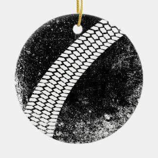 Ornamento De Cerâmica Marca de patim do Grunge