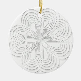 Ornamento De Cerâmica marca redonda do design do círculo do rosette