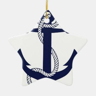 Ornamento De Cerâmica Marinho da âncora da navigação