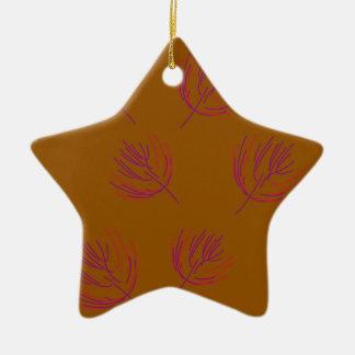 Ornamento De Cerâmica Marrom das algas