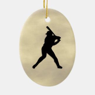 Ornamento De Cerâmica Massa do basebol acima