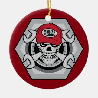 Ornamento De Cerâmica Mecânico Skull-01