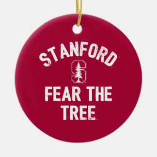 Ornamento De Cerâmica Medo da Universidade de Stanford | a árvore de