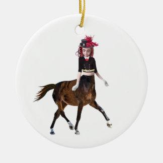 Ornamento De Cerâmica Menina do cavalo