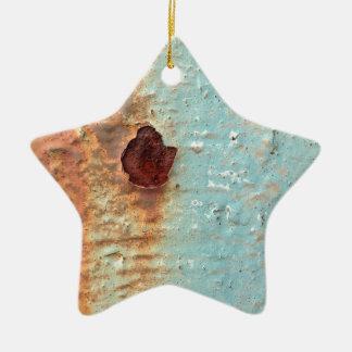 Ornamento De Cerâmica Metal oxidado