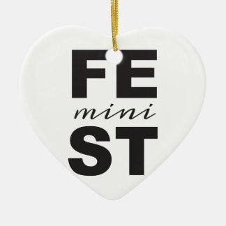 Ornamento De Cerâmica mini feminista