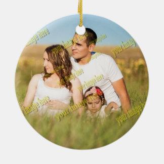 Ornamento De Cerâmica Modelo econômico de Digitas da foto de família