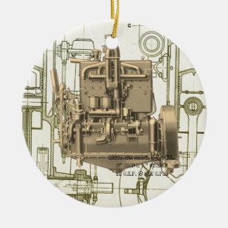 Ornamento De Cerâmica Motor de gás K5 de Milwaukee Wisconsin do motor de