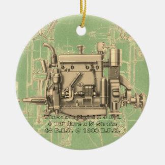 Ornamento De Cerâmica Motor de gás X de Milwaukee Wisconsin do motor de