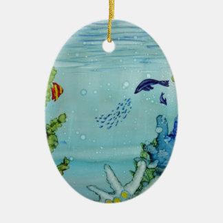 Ornamento De Cerâmica Mundo subaquático #1