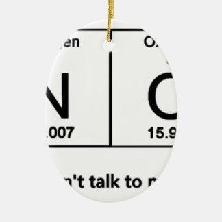 Ornamento De Cerâmica Não me fale a mesa periódica