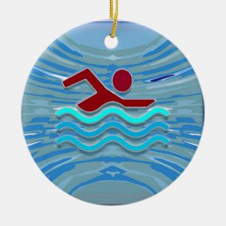 Ornamento De Cerâmica Natação da malhação NVN254 do exercício do nadador