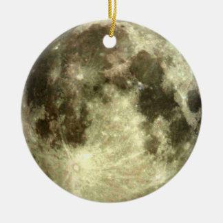 Ornamento De Cerâmica Natal da Lua cheia