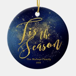 Ornamento De Cerâmica Natal da meia-noite falado enigmaticamente do céu