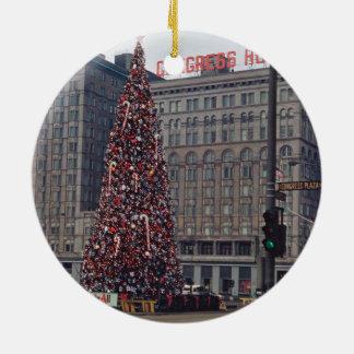 Ornamento De Cerâmica Natal de Chicago no hotel 1963 do congresso