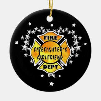 Ornamento De Cerâmica Natal do sapador-bombeiro