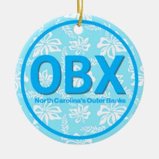 Ornamento De Cerâmica Natal exterior personalizado do azul do NC dos