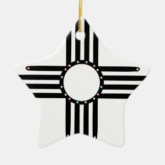 Ornamento De Cerâmica Nativo americano Zia frisado